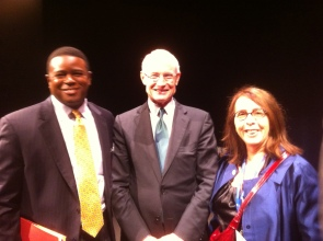 Martin Hunt, Joan Abrams and Professor Michael Porter