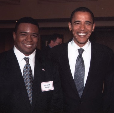 Martin Hunt Sr and Barack Obama