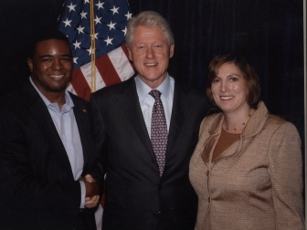 Martin Hunt and Bill Clinton